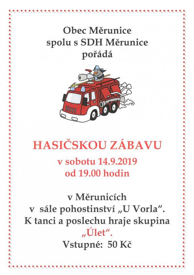 Plakát - hasičská zábava